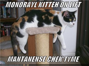 MONORAYL KITTEH ON LIFT  MANTANENSE CHEK TYME