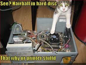 See? Hairball in hard disc  That why ur printer stuffd