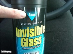 No wonder it's invisible!