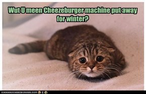 Wut U meen Cheezeburger machine put away for winter?