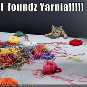 I  foundz Yarnia!!!!!