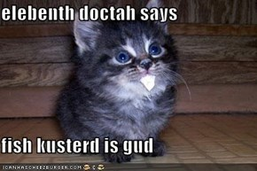 elebenth doctah says  fish kusterd is gud