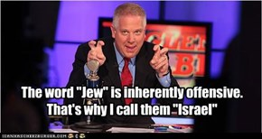 "The word ""Jew"" is inherently offensive. That's why I call them ""Israel"""