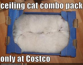 ceiling cat combo pack  only at Costco