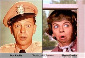 Don Knotts Totally Looks Like Gladys Kravitz