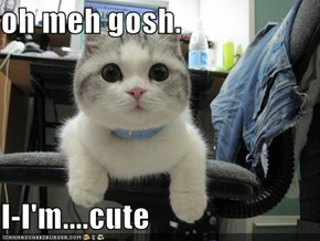 oh meh gosh.   I-I'm....cute