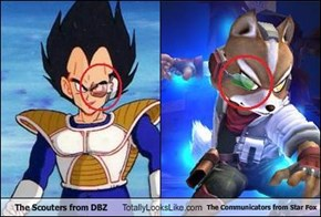 The Scouters from DBZ Totally Looks Like The Communicators from Star Fox