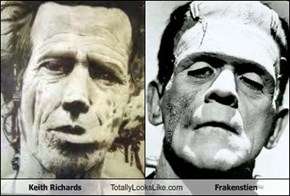 Keith Richards Totally Looks Like Frakenstien