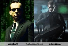 Agent Smith Totally Looks Like Albert Wesker