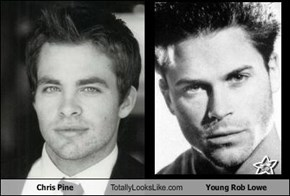 Chris Pine Totally Looks Like Young Rob Lowe