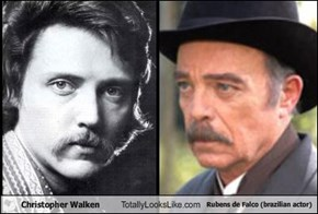 Christopher Walken Totally Looks Like Rubens de Falco (brazilian actor)
