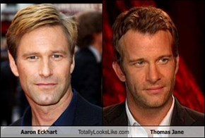 Aaron Eckhart Totally Looks Like Thomas Jane