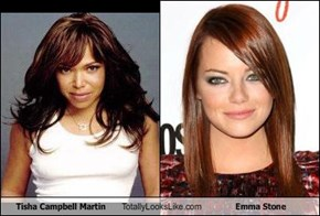 Tisha Campbell Martin Totally Looks Like Emma Stone