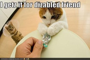 I getz it for dizabled friend
