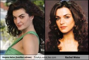 Mayana Neiva (brazilian actress) Totally Looks Like Rachel Weiss