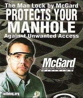 Manhole Ad Fail