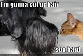 I'm gunna cut ur hair  soo hard