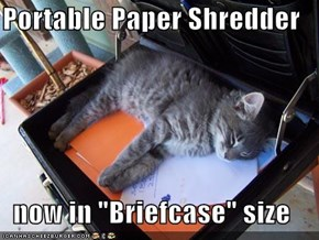 "Portable Paper Shredder  now in ""Briefcase"" size"