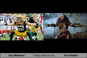 Clay Matthews Totally Looks Like The Predator