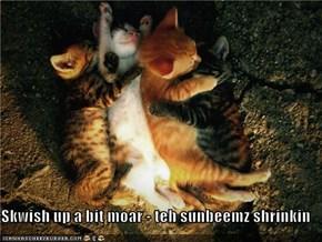Skwish up a bit moar - teh sunbeemz shrinkin