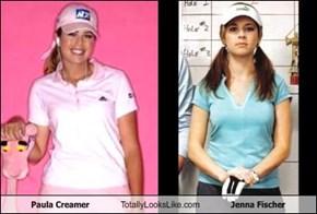 Paula Creamer Totally Looks Like Jenna Fischer