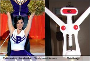 This random cheerleader Totally Looks Like This thingy