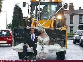 Front end loader just married