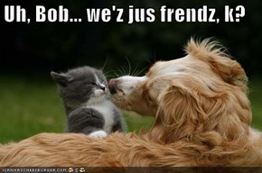 Uh, Bob... we'z jus frendz, k?