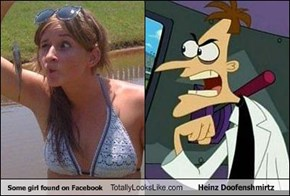 Some girl found on Facebook Totally Looks Like Heinz Doofenshmirtz