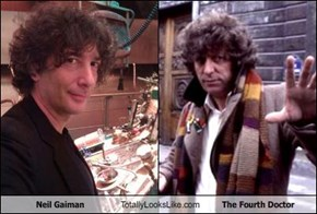 Neil Gaiman Totally Looks Like The Fourth Doctor
