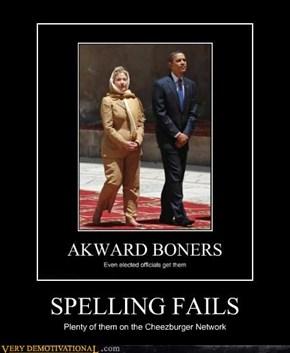 SPELLING FAILS