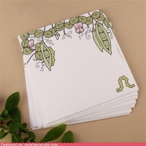 Sweet Pea Note Paper