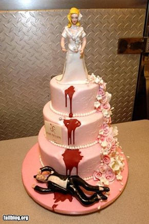 awsome wedding cake win