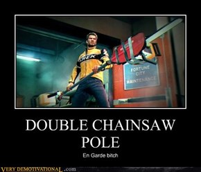 DOUBLE CHAINSAW POLE
