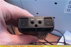 Unhappy voice recorder is unhappy