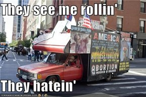 They see me rollin'  They hatein'