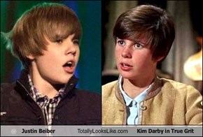 Justin Beiber Totally Looks Like Kim Darby in True Grit