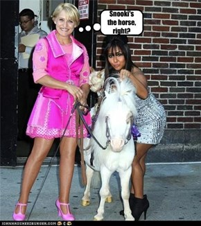 Snooki's the horse, right?
