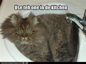 Use teh one in de kitchen