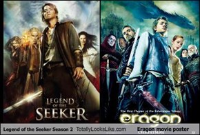 Legend of the Seeker Season 2 Totally Looks Like Eragon movie poster