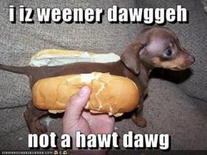 i iz weener dawggeh  not a hawt dawg