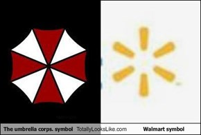 The umbrella corps. symbol Totally Looks Like Walmart symbol