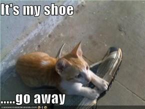 It's my shoe   .....go away