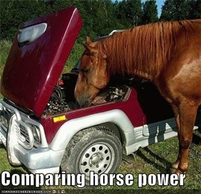 Comparing horse power