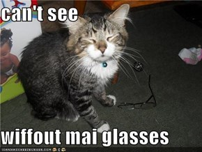 can't see  wiffout mai glasses