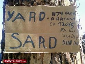 Yard What?