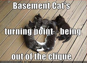 Basement Cat's    turning point    being out of the clique