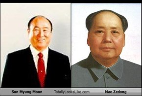 Sun Myung Moon Totally Looks Like Mao Zedong