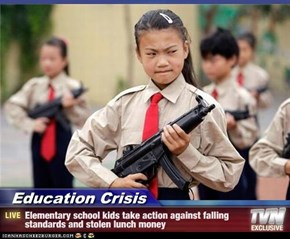 Education Crisis - Elementary school kids take action against falling standards and stolen lunch money