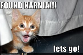 FOUND NARNIA!!!  lets go!